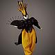 Коллекционные куклы ручной работы. Ярмарка Мастеров - ручная работа. Купить Кукла Бабочка. Handmade. Фарфор, черный, бабочка