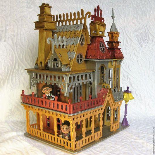 Кукольный дом ручной работы. Ярмарка Мастеров - ручная работа. Купить Дом для кукол Сказочный Замок. Handmade. Золотой