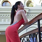 Одежда ручной работы. Ярмарка Мастеров - ручная работа Платье красная Капля. Handmade.