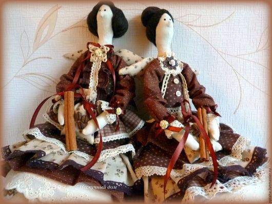 Куклы Тильды ручной работы. Ярмарка Мастеров - ручная работа. Купить Кофейные феи Тильда. Handmade. Коричневый, кукла в подарок