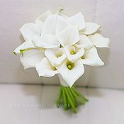 Свадебные букеты ручной работы. Ярмарка Мастеров - ручная работа Свадебный букет невесты из белых каллов. Handmade.