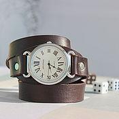 Часы наручные ручной работы. Ярмарка Мастеров - ручная работа Часы наручные  на длинном кожаном ремешке.. Handmade.