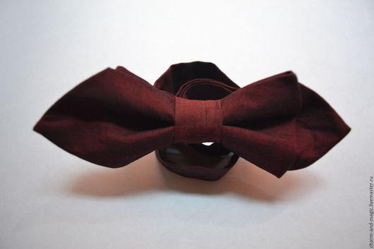 Галстуки, бабочки ручной работы. Ярмарка Мастеров - ручная работа. Купить галстук-бабочка. Handmade. Бордовый, однотонный, марсала