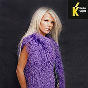 Одежда ручной работы. Ярмарка Мастеров - ручная работа Жилет из цельных шкур ламы фиолет. Handmade.