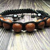 Украшения handmade. Livemaster - original item Shambhala bracelet with aventurine