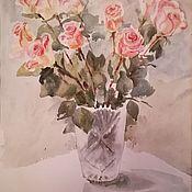 Картины и панно ручной работы. Ярмарка Мастеров - ручная работа Аромат любви Розы акварелью. Handmade.
