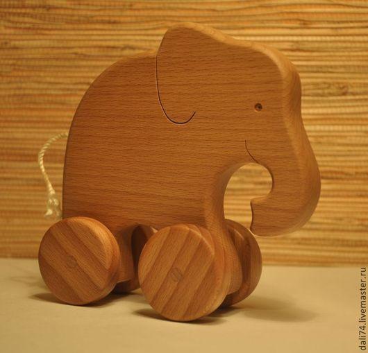 Игрушки животные, ручной работы. Ярмарка Мастеров - ручная работа. Купить слоник - каталка. Handmade. Бежевый, игрушка ручной работы