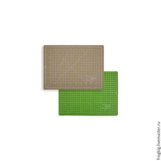 Другие виды рукоделия ручной работы. Ярмарка Мастеров - ручная работа. Купить Мат для резки двусторонний формат А4/бежево-зеленый 30х22 см, GAMMA. Handmade.