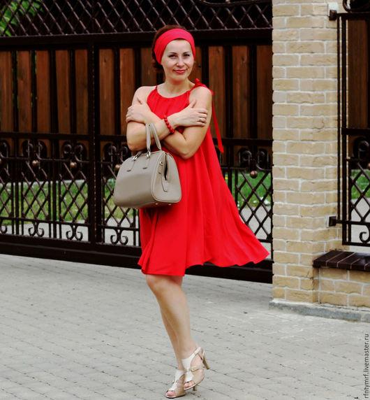"""Платья ручной работы. Ярмарка Мастеров - ручная работа. Купить Летнее платье  """" Карла"""". Handmade. Коралловый, коралловое платье"""