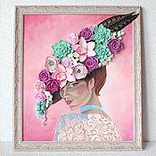 Картины и панно ручной работы. Ярмарка Мастеров - ручная работа Картина с цветами. Handmade.
