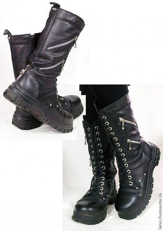 """Обувь ручной работы. Ярмарка Мастеров - ручная работа. Купить Женские сапоги """"камелот"""". Handmade. Черный, обувь ручной работы"""