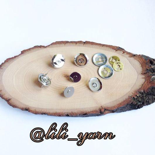Другие виды рукоделия ручной работы. Ярмарка Мастеров - ручная работа. Купить Магнитная кнопка никель 18/14 мм. Handmade.
