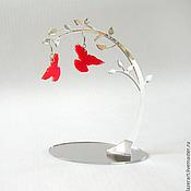 Дизайн и реклама ручной работы. Ярмарка Мастеров - ручная работа Зеркальная подставка для бижутерии. Handmade.