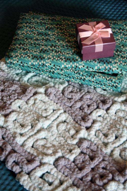Текстиль, ковры ручной работы. Ярмарка Мастеров - ручная работа. Купить сирень. Handmade. Коврик вязаный, коврик на сетке