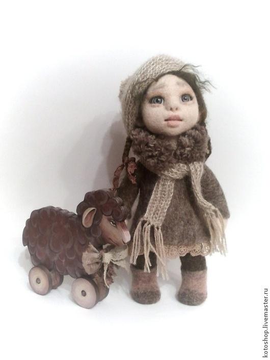 Коллекционные куклы ручной работы. Ярмарка Мастеров - ручная работа. Купить Девочка с Облачком. Handmade. Коллекционная кукла, игрушка из шерсти