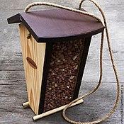 Для дома и интерьера handmade. Livemaster - original item A bird feeder wood hanging