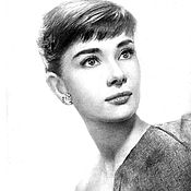 Картины и панно handmade. Livemaster - original item Audrey Hepburn. Handmade.