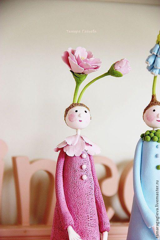 Коллекционные куклы ручной работы. Ярмарка Мастеров - ручная работа. Купить Цветочные феечки. Handmade. Интерьерная кукла, розовый