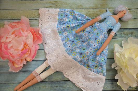 Куклы Тильды ручной работы. Ярмарка Мастеров - ручная работа. Купить Тильда домашний ангел. Handmade. Бирюзовый, интерьерная кукла