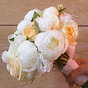 """Свадебный салон ручной работы. Ярмарка Мастеров - ручная работа Букет невесты """" Розы и пионы"""". Handmade."""