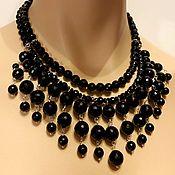 Украшения handmade. Livemaster - original item Necklace of black agate