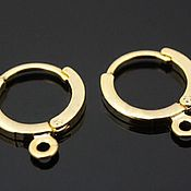 Материалы для творчества handmade. Livemaster - original item Earrings gold plated brass art. 4-1C. Handmade.