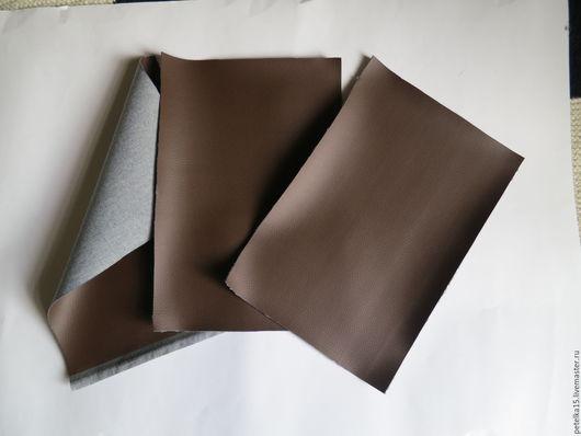 Валяние ручной работы. Ярмарка Мастеров - ручная работа. Купить листы экокожи №5 оттенок коричневого. Handmade. Кожа