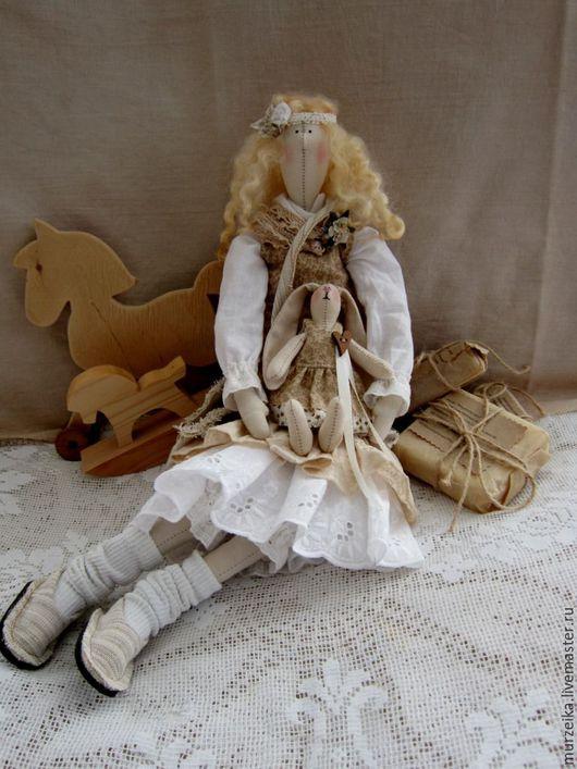 Куклы Тильды ручной работы. Ярмарка Мастеров - ручная работа. Купить Тильда кукла Майя и зая бохо стиль. Handmade.