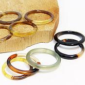Украшения handmade. Livemaster - original item Set of thin rings 9 PCs Forest light. Handmade.