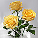 Цветы ручной работы. Розы из холодного фарфора. Sezam.Flowers. Интернет-магазин Ярмарка Мастеров. Кремовый, цветы из полимерной глины