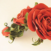 Украшения handmade. Livemaster - original item The colors of the skin.Decoration leather bracelet for women ROSE RED. Handmade.