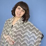 Аксессуары handmade. Livemaster - original item 181 downy tippet scarf two tone, Orenburg, accessories,. Handmade.