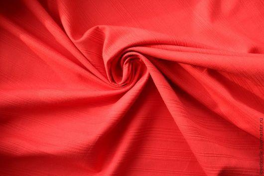 Шитье ручной работы. Ярмарка Мастеров - ручная работа. Купить L119, Хлопок красный Aigner. Handmade. Итальянские ткани