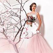 Платья ручной работы. Ярмарка Мастеров - ручная работа Молочно-розовое платье. Handmade.