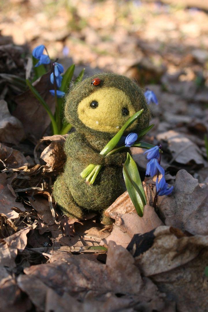 Хранитель леса (войлочная игрушка), Интерьерная кукла, Воронеж,  Фото №1