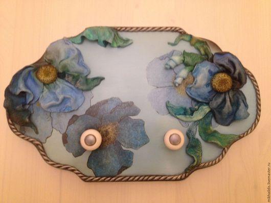 Кухня ручной работы. Ярмарка Мастеров - ручная работа. Купить цветы в голубом. Handmade. Голубой, кухня, цветы, самозатвердивающая паста