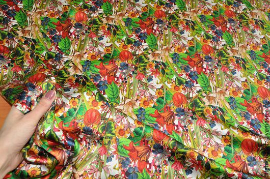 """Шитье ручной работы. Ярмарка Мастеров - ручная работа. Купить Атласный шелк """"Alberta Ferretti"""", Италия. Handmade. Ткани для рукоделия"""