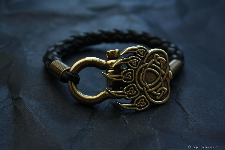 Leather bracelet paw Velez, Bead bracelet, Volgograd,  Фото №1
