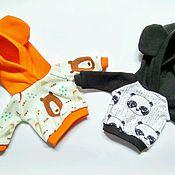 Куклы и игрушки ручной работы. Ярмарка Мастеров - ручная работа Толстовка с капюшоном на куколку ростом 30 см.. Handmade.