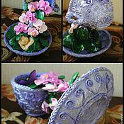 Для дома и интерьера ручной работы. Ярмарка Мастеров - ручная работа удивительная летающая чашка. Handmade.