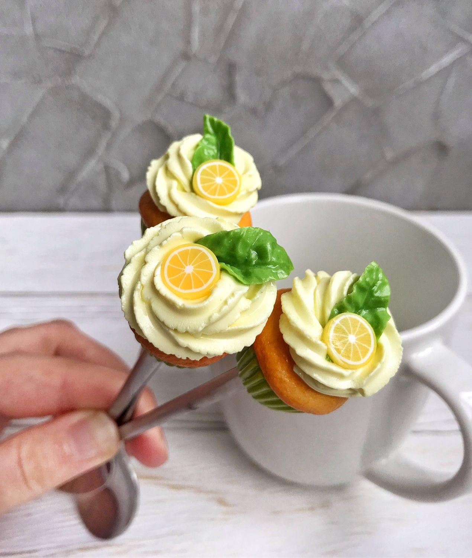 Чайная ложка с декором из полимерной глины Лимонный кекс, Ложки, Санкт-Петербург, Фото №1