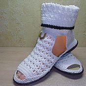 Обувь ручной работы. Ярмарка Мастеров - ручная работа Полусапожки Нарцисс. Handmade.