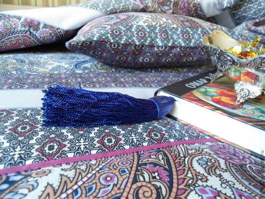 """Текстиль, ковры ручной работы. Ярмарка Мастеров - ручная работа. Купить комплект """"Восточный сад"""" лоскутное одеяло + подушка. Handmade."""