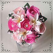 """Цветы и флористика ручной работы. Ярмарка Мастеров - ручная работа Букет из конфет """"Весна"""". Handmade."""