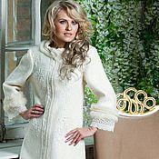 Одежда handmade. Livemaster - original item Coat, white coat, fabulous coat, designer coat. Handmade.