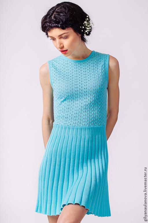 """Платья ручной работы. Ярмарка Мастеров - ручная работа. Купить Платье """"Лето"""". Handmade. Голубой, хлопок 100%"""