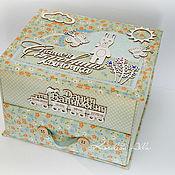 Упаковочная коробка ручной работы. Ярмарка Мастеров - ручная работа Мамины сокровища комодик для мальчика. Handmade.
