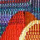 Абстракция ручной работы. Панно Восточный мотив в технике гобелен шерсть/акрил. Мария. Ярмарка Мастеров. Купить декоративное панно
