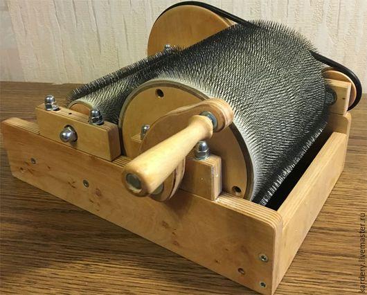 Аксессуары для собак, ручной работы. Ярмарка Мастеров - ручная работа. Купить Кардер барабанный мини. Handmade. Дерево, Валяние