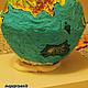 Кулинарные сувениры ручной работы. Пряничный глобус. Пряничный город Татьяна. Ярмарка Мастеров. Сувенир, континент, суша, мастика